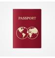 passport Flat Design vector image vector image