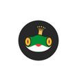 princess frog logo fairytale cartoon character in vector image
