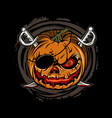 pumpkin pirate vector image
