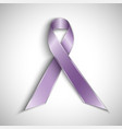 purple ribbon isolated on white background vector image