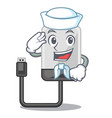sailor hard drive in shape of mascot vector image vector image