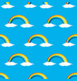 seamless pattern with rainbows vector image vector image