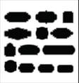 set blank retro vintage labels 5 vector image vector image