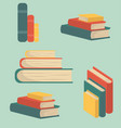 set book of stacks in flat design vector image vector image