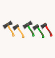 set modern and old axes vector image vector image
