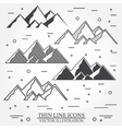set mountains icons vector image