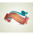 set retro ribbons vector image