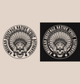 set with a skull in an indian headdress vector image vector image