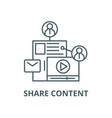 share content line icon linear concept vector image vector image