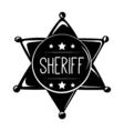 sheriff s badge wild west label western vector image