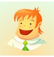 Smiling young man vector image