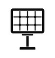 solar panel icon simple style vector image vector image
