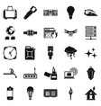 spare fuel icons set simple style vector image vector image
