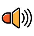 speaker linecolor vector image vector image