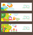 Spring Season Object Icons Banner vector image