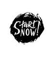 start now hand brush lettering modern calligraphy vector image
