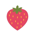 strawberry isolated icon design vector image