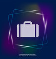 suitcase neon light icon layers grouped for easy vector image vector image