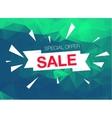 Super Sale Special Offer banner on green vector image