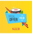 Sushi origami banner vector image