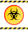 the biohazard or biological threat alert icon vector image vector image