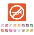 The keep quiet icon No sound symbol Flat vector image