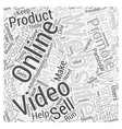 Using Online Video Websites to Promote Your vector image vector image