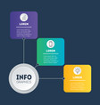 web template diagram infographic technology vector image vector image