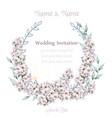 wedding wreath white lavender watercolor vector image vector image