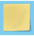 Yellow sticky note isolated vector image vector image