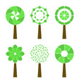 abstract trees isolated on a white background vector image