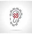 Ear diseases gray line icon vector image