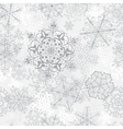 Christmas seamless gray pattern vector image