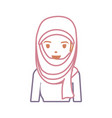 arab woman cartoon neon lines vector image