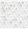 abstract white hexagonal background vector image vector image