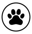 animal paw print icon design vector image vector image