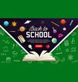 back to school chalkboard web banner vector image