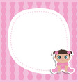 bagirl shower invitation card with little girl vector image vector image