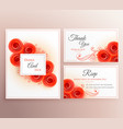 beautiful wedding invitation card with rose vector image