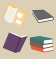 books collection concepts in flat style vector image