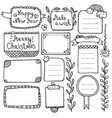 bullet journal and christmas doodle element vector image vector image