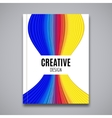 Business flyer design template Brochure colorful vector image vector image