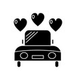 car wedding icon sign o vector image vector image