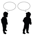 child with speech bubble vector image vector image