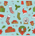 christmas seamless patterns holiday vector image