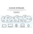 cloud storage linear style infographics vector image vector image