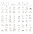 coffee and tea icon set vector image vector image