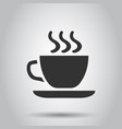 coffee tea cup icon in flat style coffee mug on vector image vector image
