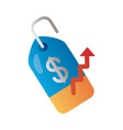 commercial tag with price and arrow up infographic vector image vector image