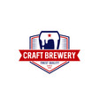 craft brewery logo symbol icon vector image